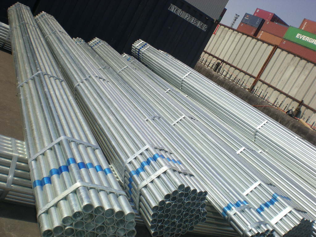 Galvanized or Coated with Oil Tube / Round / ERW Welded Steel Pipes or Square Pipe